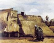 Cottage with Woman Digging II