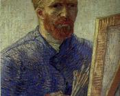 Self-Portrait in Front of the Easel