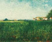 Farmhouses in a Wheat Field Near Arles II