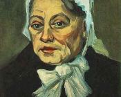 Head of an Old Woman with White Cap
