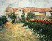 House with Sunflowers
